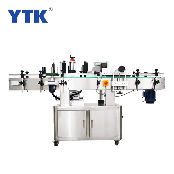 YTK-220 Automatic vertical labeling machine for round and label bottles tapered objects can be customized can increase the printer