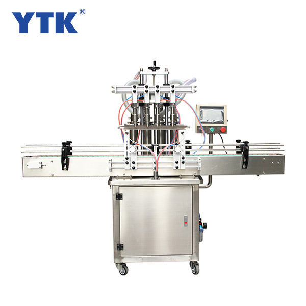 Straight line 4 automatic liquid filling machine