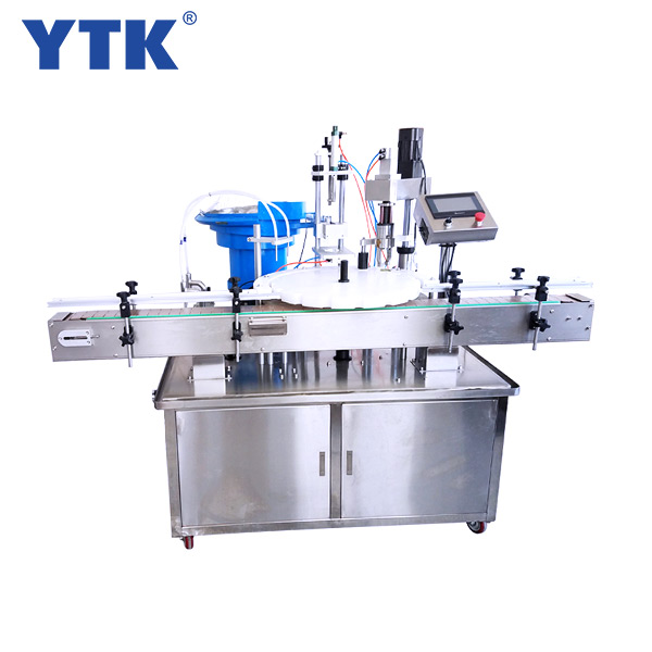 Automatic carousel filling capping machine
