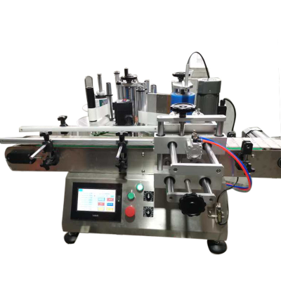 Factory Price Round bottle sticker labeling machine for Round Jar Glass bottles wrap round bottle label machine