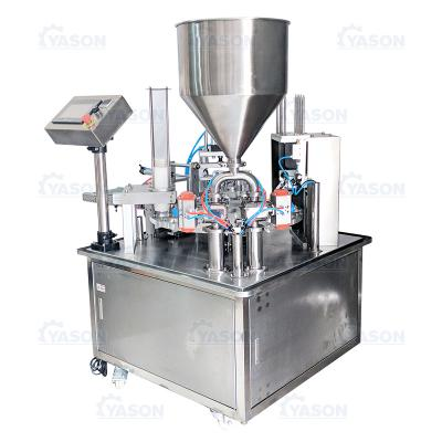 Full-automatic filling and sealing all-in-one machine milk tea jam plastic cup paper cup paste filling and sealing machine price