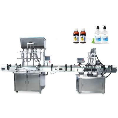 Manufacturer Direct Sale Automatic Pneumatic Bottle Filling and Capping Machine for Juice, Honey, E-liquid, Essential Oil