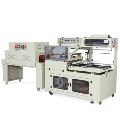 Automatic POF wrapping cutting thermal shrinking machine, shrink heat tunnel packaging machine for small box carton